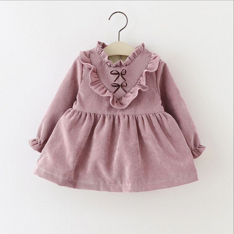 Noble Fan Cute Baby Girl Thickened Dress Princess Winter -8712