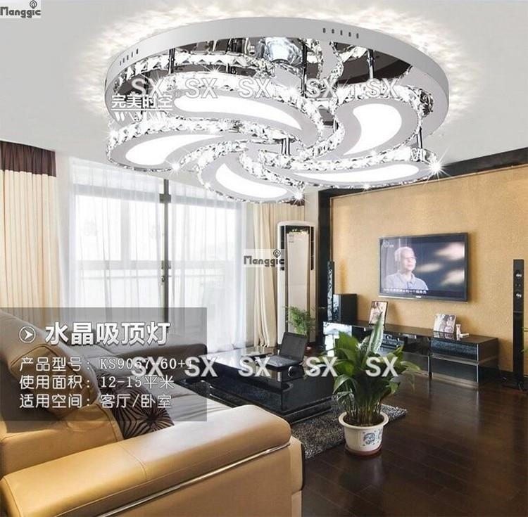 Livraison gratuite De Luxe Design Moderne LED Cristal Plafonnier Pour Salon Dia60 H11cm lustres de cristal Résultat Supérieur 15 Luxe Plafonnier Moderne Design Photos 2017 Iqt4