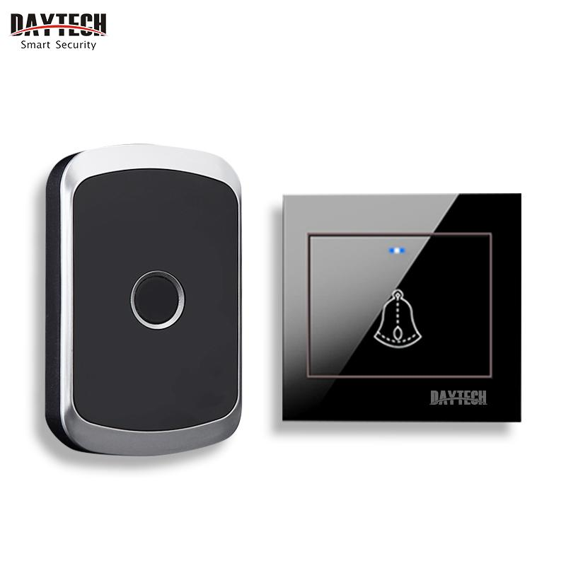 DAYTECH Doorbell Chime Alarm Home Weclome Cordless Door Bell Ring Alert Button Waterproof Long Range Remote Push Transmitter