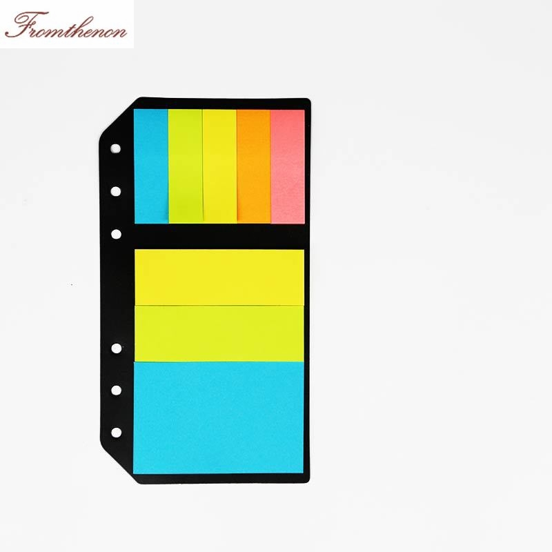 Color Memo Pad 6 Holes loose leaf sticky notes kit for A5A6 Spiral Notebook Planner post it stickers stationery school supplies