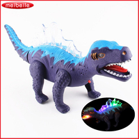 New Electric Dinosaur Toys Educational Toys For Children With Music Light Walk Sounds Plastic Toys Juguetes