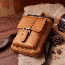 JOYIR Genuine Cowhide Leather Men Shoulder Bag Small Messenger Bags Men Travel Crossbody Bag New Fashion Men Cell Phone Flap Bag new genuine leather waist belt bag men leather shoulder men chest bags fashion travel crossbodys bag man messenger bag male flap