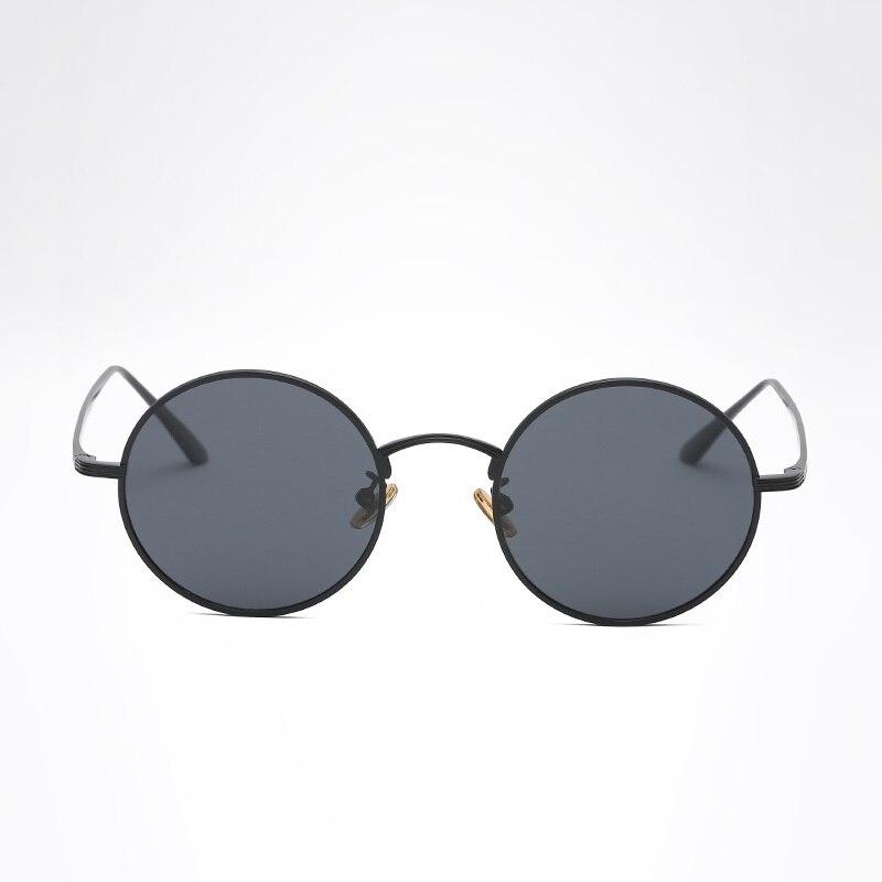e84145fb532d width-138 2018 New Prince mirror Retro Personalized sunglasses Small round  frame Ocean Polarized sunglasses Men and women female