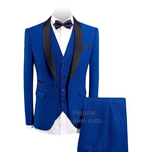 404599f40267 Uomo Promenade Picture Blue Sposa Da As Same Vestito Abiti same Groomsman Custom  Made Risvolto Per Picture Fit Scialle Del Royal 3 Pezzi Slim Abito Partito  ...