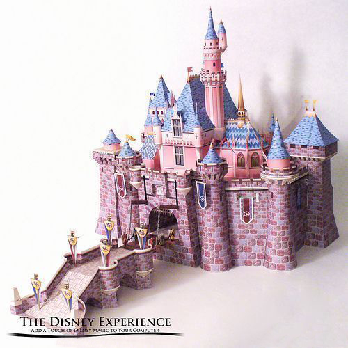 57cm DIY Sleeping Beauty Castle  Papercraft 3D Paper Model Education Toy