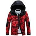 Jiekanila homens parka Inverno Engrossar Amantes jaqueta Camuflada amassado-algodão jaqueta acolchoada outerwear M-3XL Sem Camisa