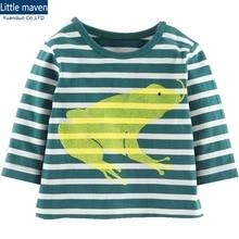 children Clothing casual kids t shirts Green boys long sleeve t-shirt frog design spring Autumn boys tee shirt Boys Clothes