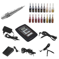 complete permanent makeup kit tatoo machine complete set body piercing starter kit