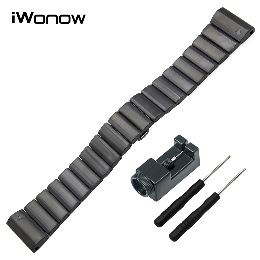 iWonow 26mm Stainless Steel Watch Band Link HR 5X Bracelet