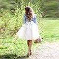 Динамические Колен Тюль Юбка С Бантом Короткие Бальные Платья эластичный Стиль Юбки Для Женщин Летом Или Весной Стиль Пользовательского сделано
