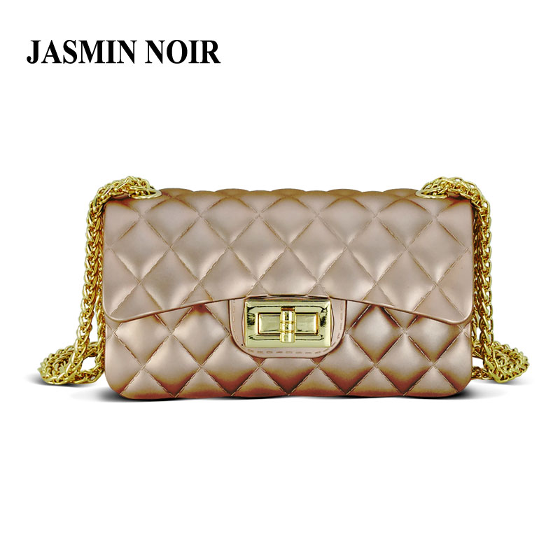 JASMIN NOIR 2017 small spring and summer Women Messenger Bag mini frosted jelly chain shoulder bag