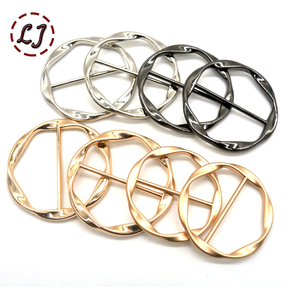 New 2pcs/lot 35MM 40MM Belt Buckles  round metal buckle for wind coat bag garment decoration crafts DIY sewing accessories