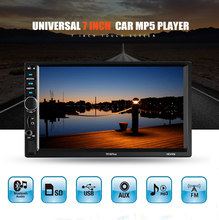 HEVXM 7018 Plus 2 Din Car Video Player 7 Touch Screen Multimedia player MP5 USB FM Bluetooth Support Rear View Camera