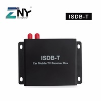 Car ISDB T Digital TV Receiver 2 Antennas For South America Brazil Chile Argentina Peru Japan Philippines Support Max. 120 KM/H