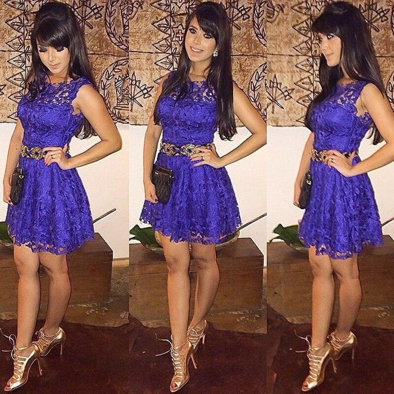 Encaje suelto vestido Mini, 015 Vestidos De Fiesta Sexy & Club Solid ...