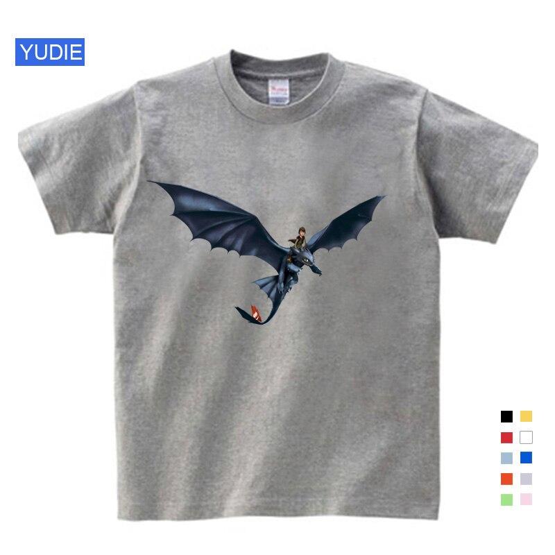 Adorável Lazer Bolso Sem Dentes Homens Da Camisa Tops Bonito Como Treinar O Seu Dragão Dos Desenhos Animados Roupas de Verão Roupas de Algodão Camisa