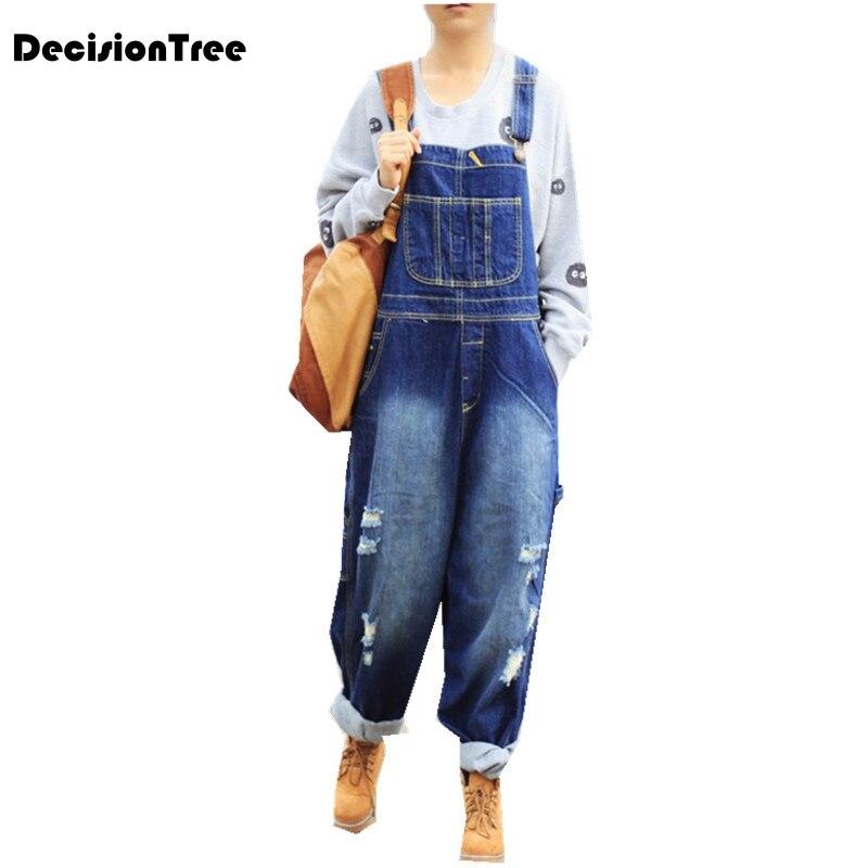 2019 new rompers denim overalls women combinaison femme high waist elegant adjustable strap jumpsuit jeans pants wome