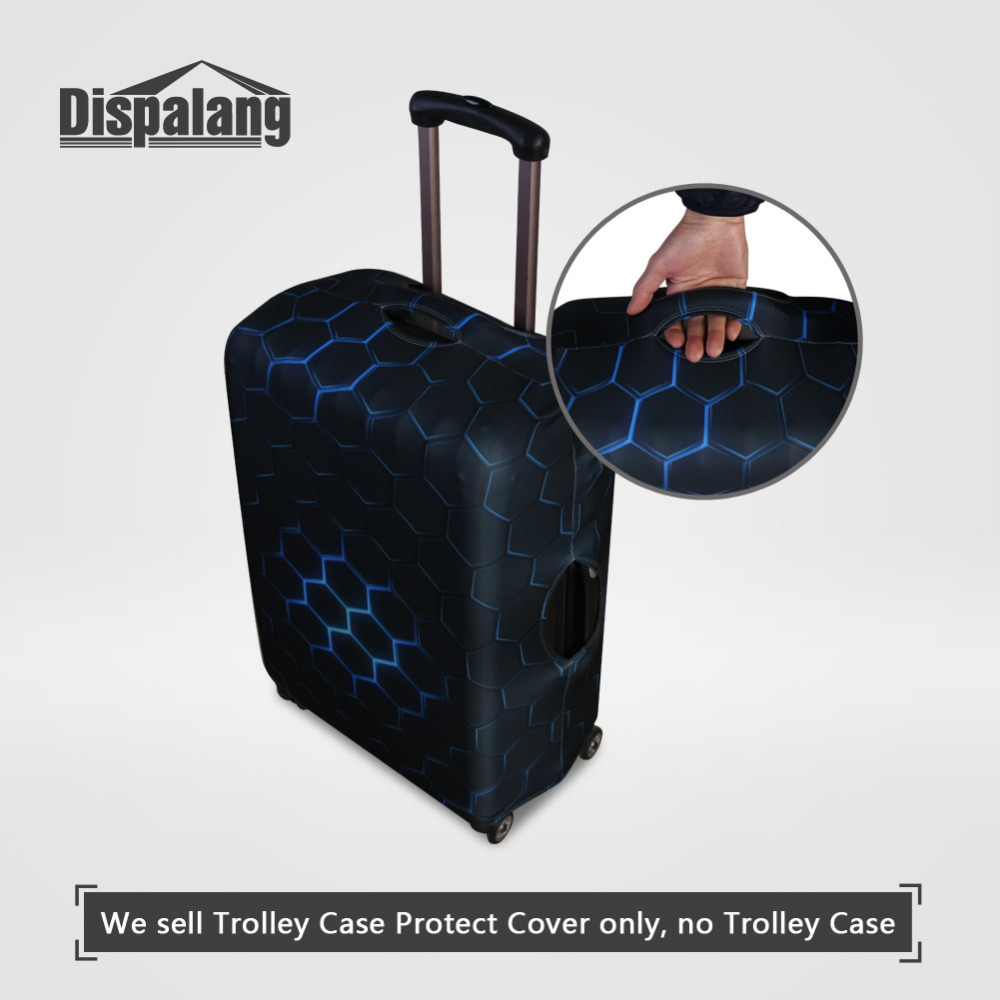 Dispalang Suitcase Protective Covers Flamingos Animal Print Elastic Luggage Cover For 18-30 Inch Suitcases Travel Accessories