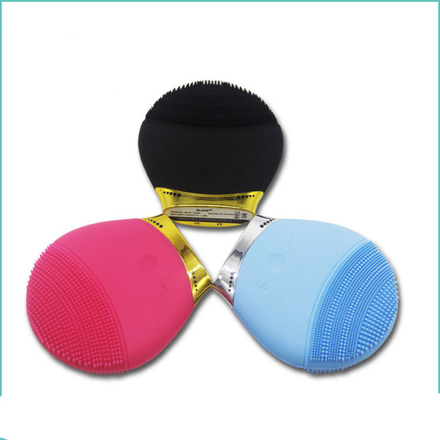 Rechargeble Electric Face Cleanser Vibrate Waterproof Silicone Cleansing Brush Massager Silicone Facial Vibration Massage