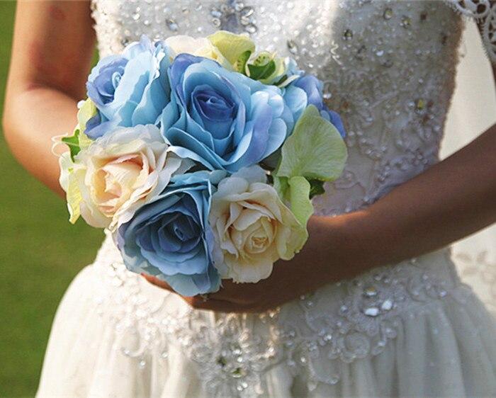 Sil Rose Flower Bridal Bouquet Wedding Artificial Flowers