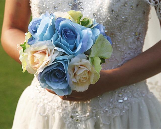 Sil Rose Fleur Nuptiale Bouquet De Mariage Fleurs Artificielles