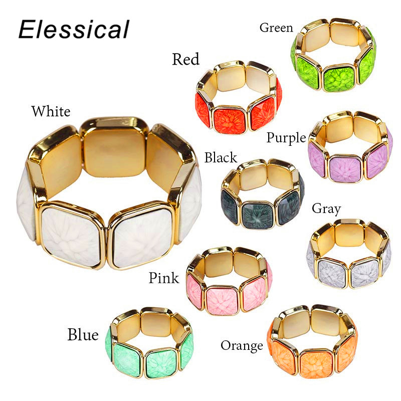 ELESSICAL European and American Fashion Trend Striped Temperament Wild Women Bracelet&Bangles Jewelry for Women WD135