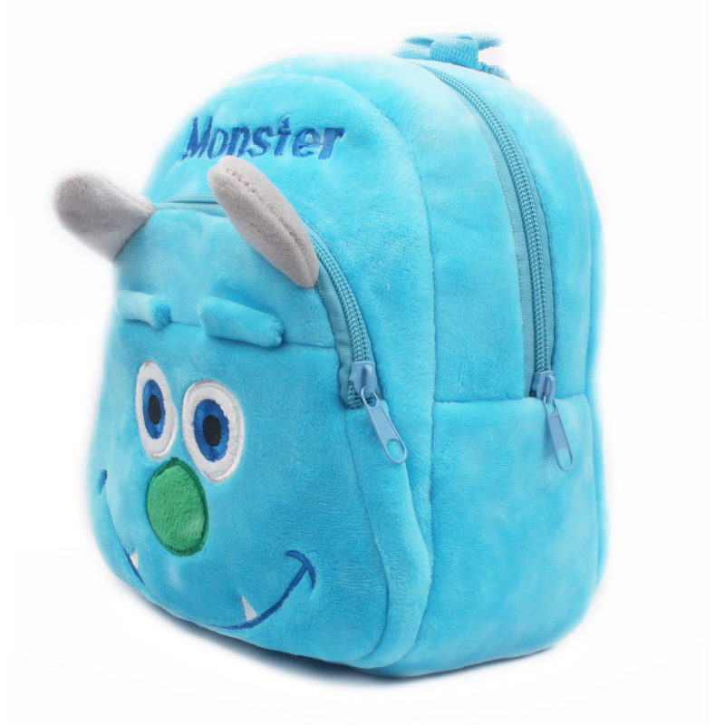 Cartoon baby bag plush school bags Blue Monster kids backpack lovely design  mini candy bags for kindergarten boys best gift-in School Bags from Luggage  ... a15e038c077c8
