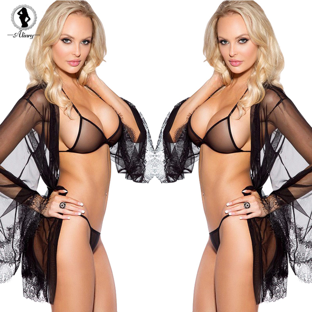 2017 New Hot style women Sexy underwear sets  2 color temptation perspective exposed breasts backless sexy costumes sexy women