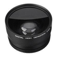 58 мм 0.45X широкоугольный объектив + макро объектив для cannon 5D/60D/70D/350D/400D /450D/500D/1000D/550D/600D/1100D 18-55 мм объектив