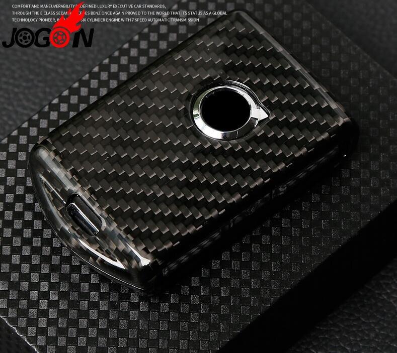 Fibre de carbone rouge et noir pour Volvo XC40 XC60 XC90 S90 accessoires clé de voiture réelle pour clé de voiture couvre Shell style de voiture