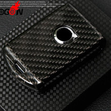 Red & Black Carbon Fiber For Volvo XC40 XC60 XC90 S90 Accessories Real Car Key Case For Car Key Covers Shell Car styling