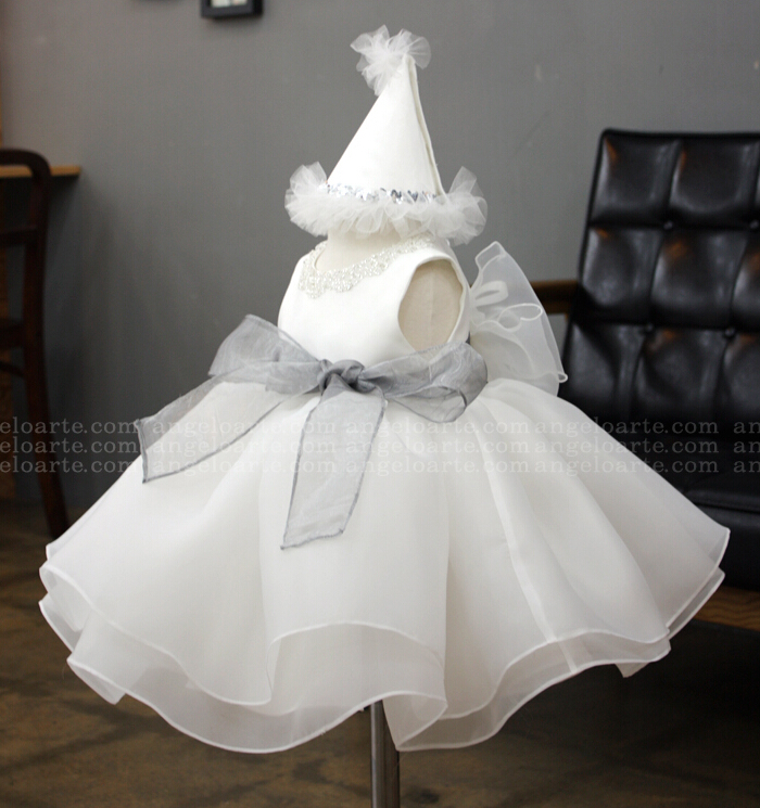 Cheap White 1st birthday outfit organza flower girl christening dress kid short knee-length tutu dresses With Bow xc2 60rt c xinje plc controller have in stock fast shipping