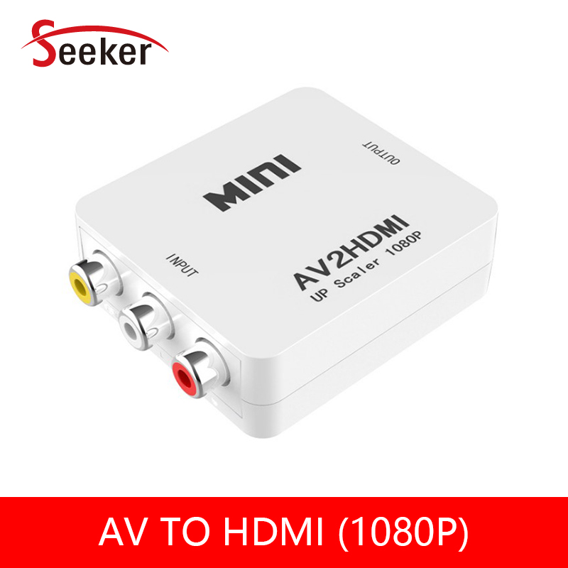 Mini Composite AV RCA to HDMI Video Converter Adapter AV to HDMI Converter Full HD 720 1080p UP Scaler AV2HDMI for HDTV Standar scart to hdmi adapter hd 1080p scaler video converter free shipping