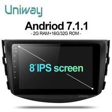 Uniway ARAV48071 dvd del coche para Toyota RAV4 2007 2008 2009 2010 2011 car stereo radio navegación gps con volante