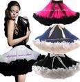 Розничная взрослый девочек-подростков юбка женщин 2 цвет лоскутное ну вечеринку пачка юбки белый с черными рюшами бесплатная доставка 1 шт.