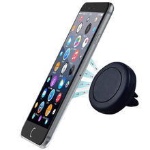 Universal Car Phone Holder Magnetic Air Vent Mount Stand 360 Rotation Mobile Phone holder magnet for iPhone 7 6 6sPlus Samsung