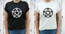 Pentacle Pagan Wicca Witch Womens T-Shirt Tee Fashion Top Size 8 10 12 14 16Men'S T-Shirts Summer Style Fashion Swag Men(China)