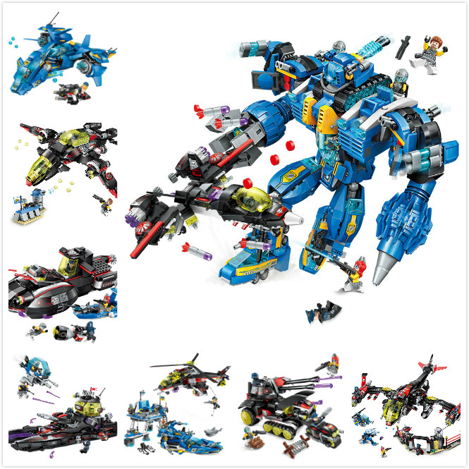 Building Blocks Compatible With Lego Enlighten E2713-2722 Models Building Kits Blocks Toys Hobby Hobbies For Chlidren