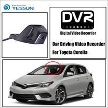 YESSUN Видеорегистраторы для автомобилей цифрового видео Регистраторы черный ящик HD 1080 P не Обратный Парковка Камера-для Toyota Corolla-Фронтальная камера тире