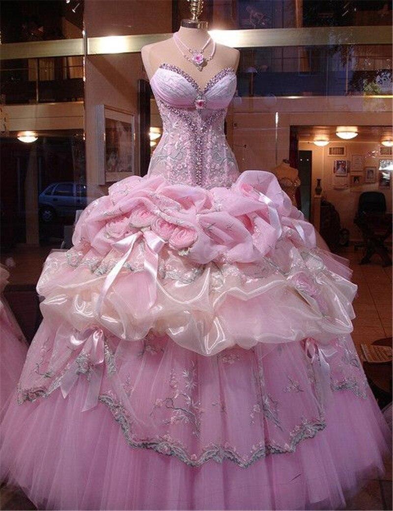 Gypsy pink wedding dress