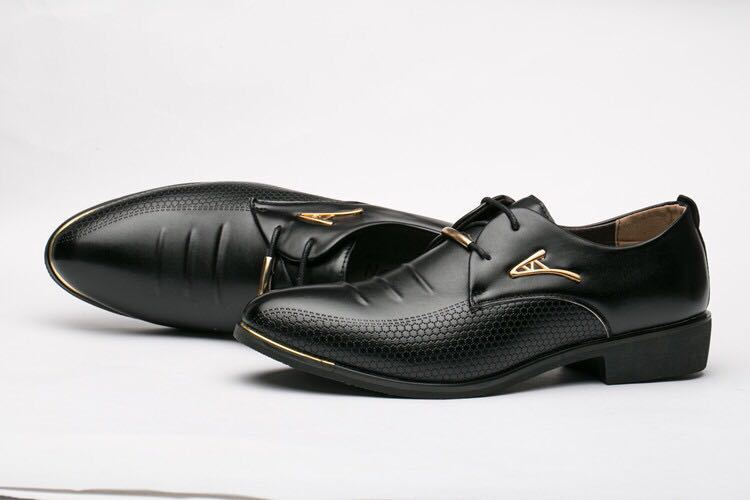 Big Size 38-48 Spring Autumn Man Dress Shoes Leather Pointed Toe Italy Breathable Business Wedding Oxford Formal Shoes for Meal (15)