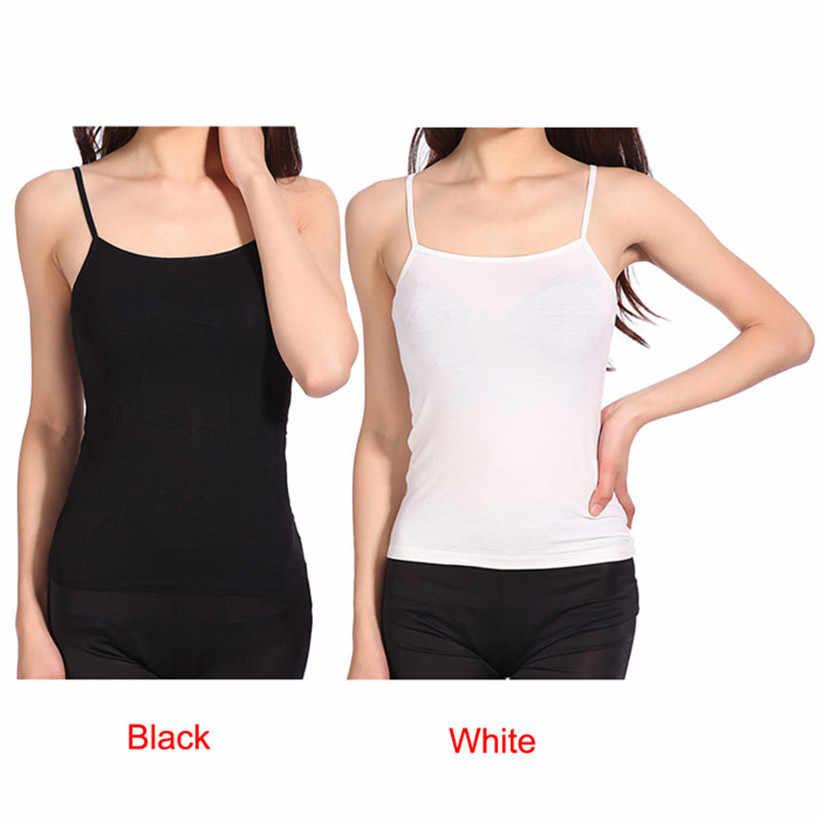dd24ac38a3785 ... MUQGEW Casual Fashion Sexy Women Summer tops Loose Thin Spaghetti Strap  Tank Vest Shirts Plus Size ...
