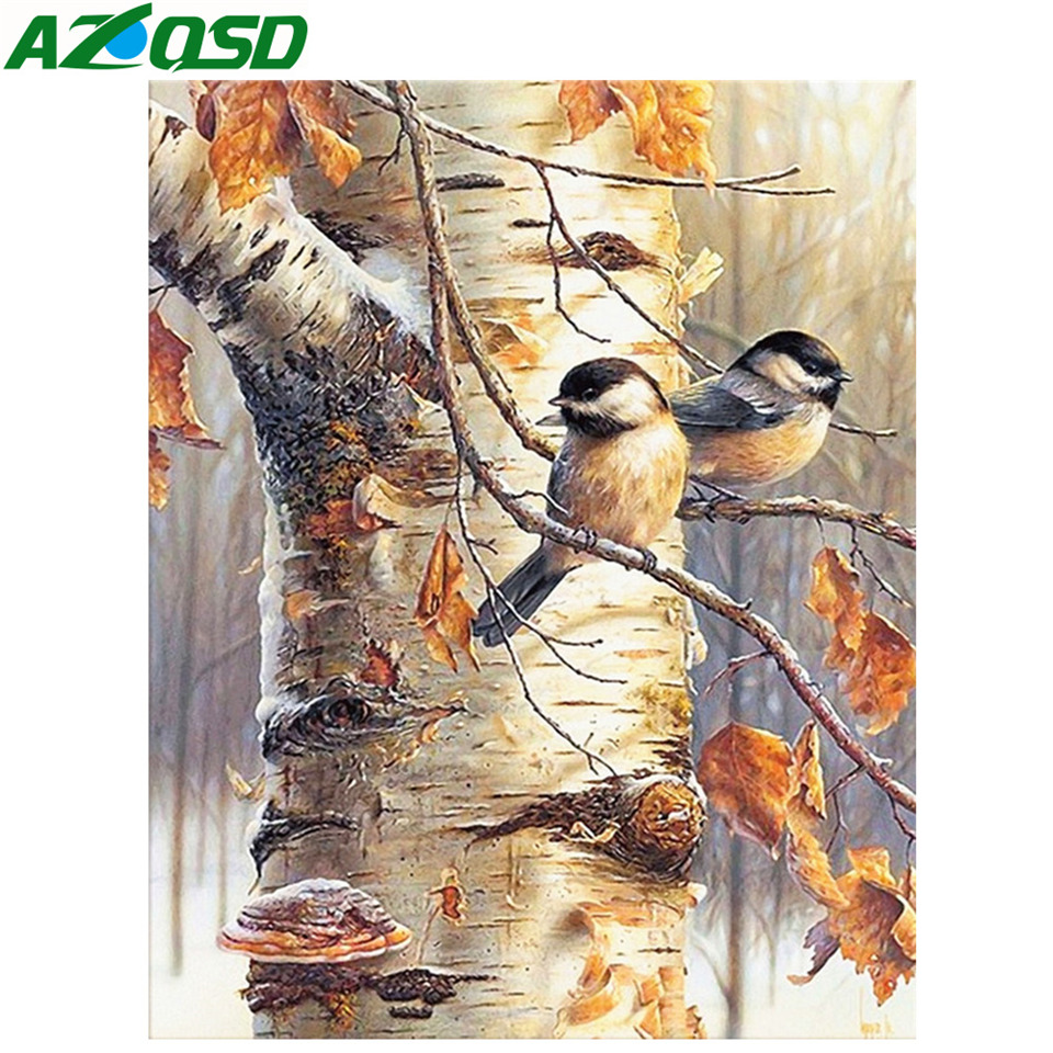 AZQSD Diamond Painting Embroidery Handcrafts-Picture Birds Animal Home-Decoration Full-Drill title=