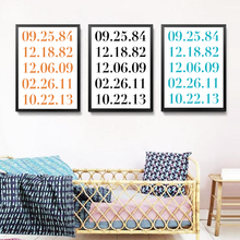 Custom Art Wedding Anniversary Dates Wall Poster Decor Painting Paintings Canvas Print