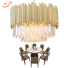 Fanmee Modern Crystal Chandelier Lighting Hotel Chandeliers LED Pendant Hanging Light Restaurant K9 Cristal Chandelier Lamp traditional crystal chandeliers lighting gold palace light luxury hotel lamp for restaurant diameter40cm guaranteed100% 9052