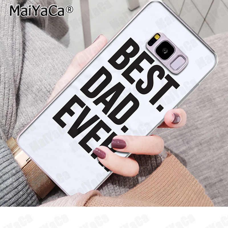 MaiYaCa EU amo meu melhor pai Phone Case Ultra fina e Macia TPU para Samsung S9 S9 plus S5 S6 S6edge s6plus S7 S7edge S8 S8plus