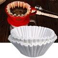 50 см шт./компл. 24 белый кофе фильтры одной сервировки бумага для кофе машина фильтр бумага торт чашки бумажный фильтр для Кофе Чаша - фото