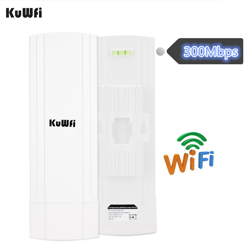 KuWFi CPE Router 2 4G 3KM Wifi Bridge Outdoor Wifi Repeater Wifi Extender Access Point Router