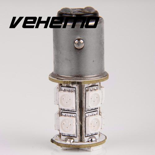Vehemo New Turn Signal Brake Tail Red Light 13-SMD 5050 LED RED 1157 P21/5W BAY15D 1152 1154 1158 High Quanlity 1157 bay15d 2 3w 13 5050 smd led red car turn signal brake reversing light pair 12v