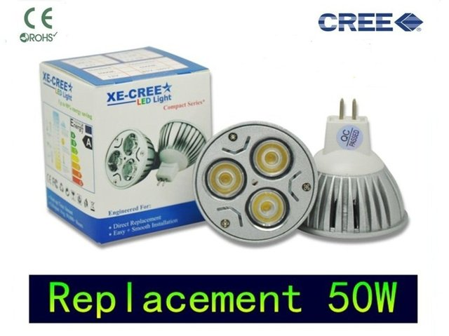4 pcs LED Mr16 9w Dimmable CREE Replacement 50W Warm white or cool white DC12V Gu5.3 12V or 110V -265V